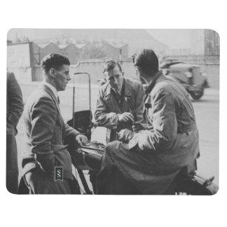 Men Chatting Black & White Image Pocket Journal
