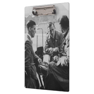 Men Chatting Old Black & White Image Clipboard