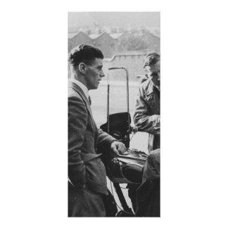 Men Chatting Old Black & White Image Rack Card