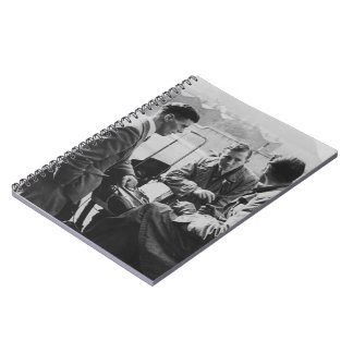 Men Chatting Old Image 80 Page Photo Notebook