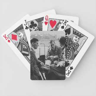 Men Chatting Old Image Bicycle Poker Cards