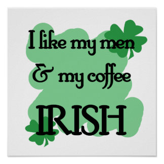 men coffee poster