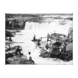Men fishing at Celilo Falls Photograph Gallery Wrapped Canvas