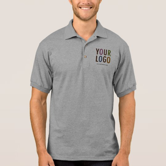 9977717ae Men Grey Polo Shirt Uniform Custom Company Logo | Zazzle.co.uk