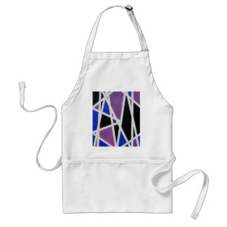 MEN in abstract word text art Standard Apron