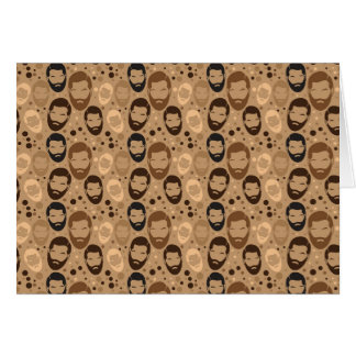 Men in Beards pattern Card