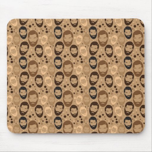 Men in Beards pattern Mousepads