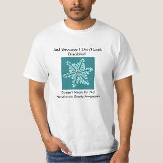 Men/Just Because I Don't Look Disabled-MG Aware Shirt