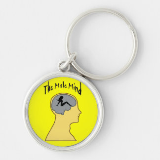 Men!! Silver-Colored Round Key Ring