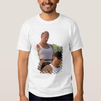 Men lifting barbell tshirt