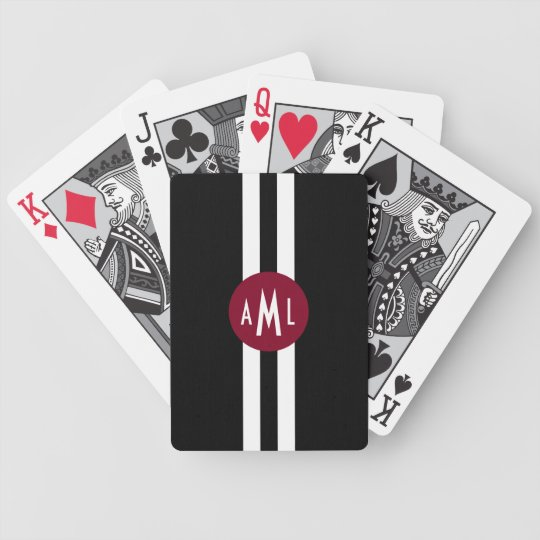 Men Monogrammed Playing Cards