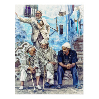 Men of Morocco - North Africa Travel Postcard