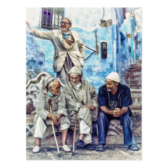 Men of Morocco - North Africa Travel Postcard