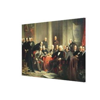 Men of Progress Canvas Print