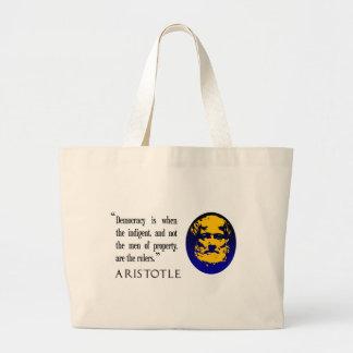 men of property, rulers, Aristotle shopping bag