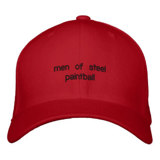 men of steel pb hat embroidered hats