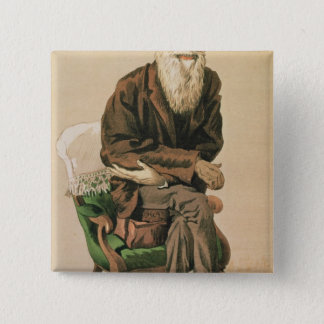 Men of the Day, no. 33, Charles Darwin 15 Cm Square Badge