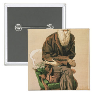 Men of the Day, no. 33, Charles Darwin 15 Cm Square Badge