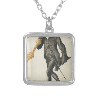 Men of the Day No.610 Caricature of Lt Col Lord Square Pendant Necklace