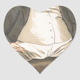 Men or Women of the Day No.310 Caricature Heart Sticker