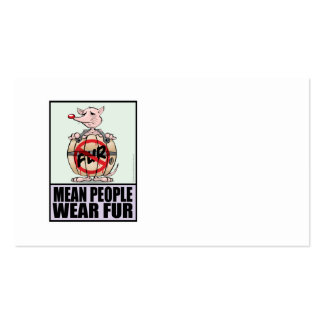 Men People Wear Fur Pack Of Standard Business Cards