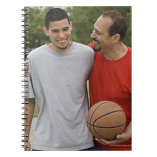 Men playing basketball notebook