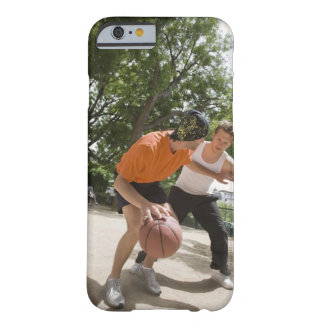 Men playing basketball outdoors barely there iPhone 6 case