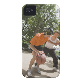 Men playing basketball outdoors iPhone 4 case