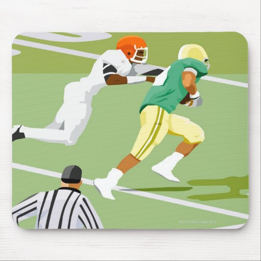 Men playing football 2 mouse pads