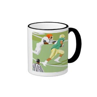 Men playing football 2 coffee mug