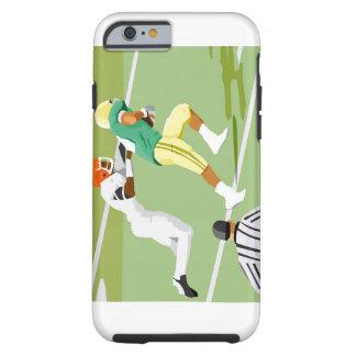 Men playing football 2 tough iPhone 6 case