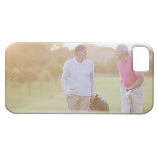 Men pulling golf carts iPhone 5 case