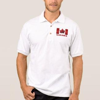 Men s Canada Flag Polo Shirt Canada Golf Shirt