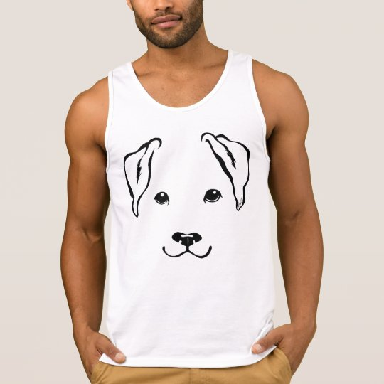 Men's Must-have Hand Drawn Dog Tank Top