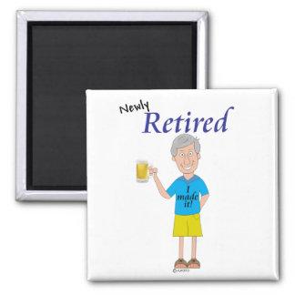 Men's retirement square magnet