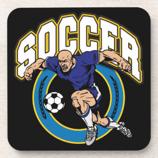 Men s Soccer Logo Drink Coaster