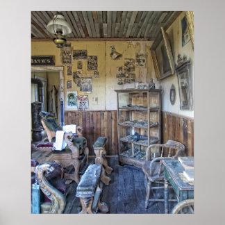Men s Victorian Barber Shop Interior Print