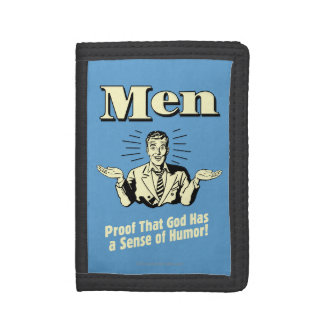 Men: Sense Of Humor Tri-fold Wallets