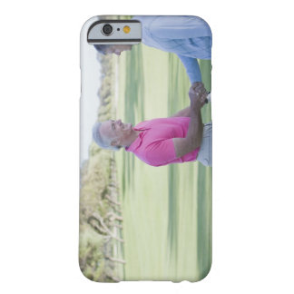 Men shaking hands on golf course barely there iPhone 6 case