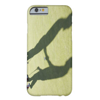 Men shaking hands on putting green barely there iPhone 6 case