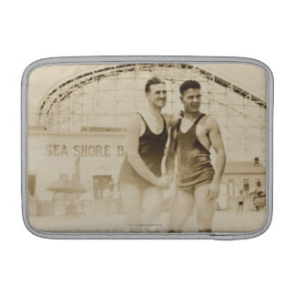 Men Standing on Beach MacBook Sleeve
