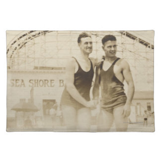 Men Standing on Beach Placemat