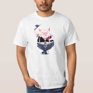 Men T-short with funny pig T-shirts