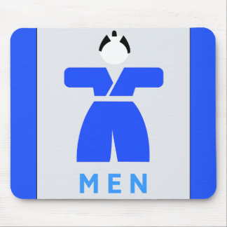 Men toilet, Japanese Sign Mousepads