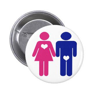 Men VS Women Novelty Fun Buttons