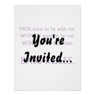 Men want me, women want, windows fear me purple custom invite