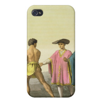 Men Wearing Ceremonial Ponchos in Santiago, Chile iPhone 4 Case
