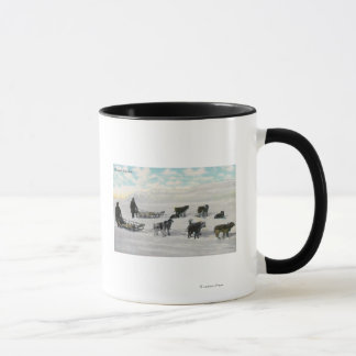 "Men with ""Artic Fast Mail"" Dogsled Mug"