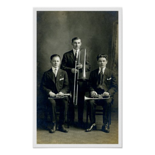 Men with Brass Instruments Print
