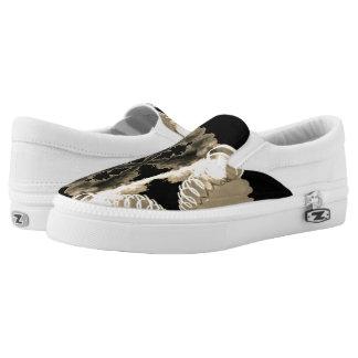 Men/Women Slip On Shoe - Tornado White - Sepia